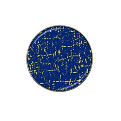 Deep Blue And Yellow Pattern Hat Clip Ball Marker (10 Pack) by Valentinaart