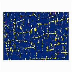 Deep Blue And Yellow Pattern Collage Prints