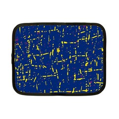 Deep Blue And Yellow Pattern Netbook Case (small)  by Valentinaart