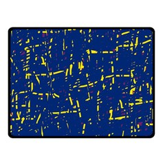 Deep Blue And Yellow Pattern Fleece Blanket (small) by Valentinaart