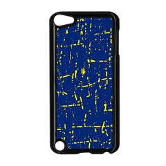 Deep Blue And Yellow Pattern Apple Ipod Touch 5 Case (black) by Valentinaart