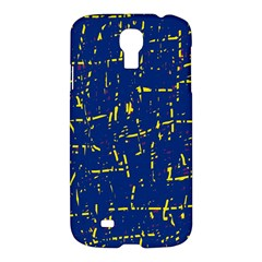 Deep Blue And Yellow Pattern Samsung Galaxy S4 I9500/i9505 Hardshell Case by Valentinaart