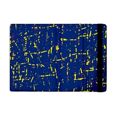 Deep Blue And Yellow Pattern Ipad Mini 2 Flip Cases by Valentinaart