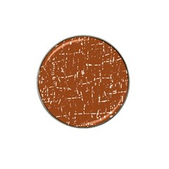 Brown Elelgant Pattern Hat Clip Ball Marker (10 Pack) by Valentinaart