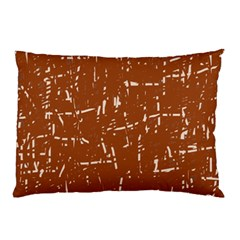 Brown Elelgant Pattern Pillow Case by Valentinaart