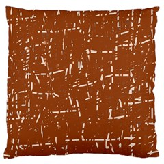 Brown Elelgant Pattern Large Cushion Case (one Side) by Valentinaart