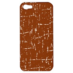 Brown Elelgant Pattern Apple Iphone 5 Hardshell Case by Valentinaart