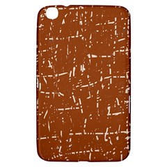 Brown Elelgant Pattern Samsung Galaxy Tab 3 (8 ) T3100 Hardshell Case  by Valentinaart