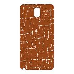 Brown Elelgant Pattern Samsung Galaxy Note 3 N9005 Hardshell Back Case by Valentinaart
