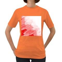 Red Pattern Women s Dark T Shirt by Valentinaart