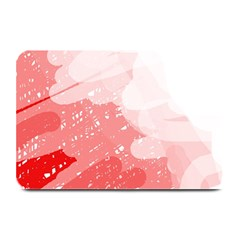 Red Pattern Plate Mats by Valentinaart