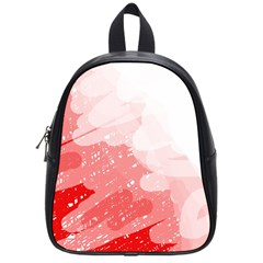 Red Pattern School Bags (small)  by Valentinaart