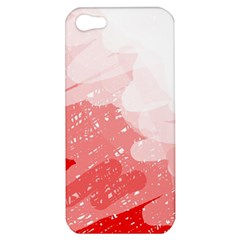 Red Pattern Apple Iphone 5 Hardshell Case by Valentinaart