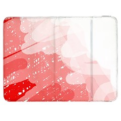 Red Pattern Samsung Galaxy Tab 7  P1000 Flip Case by Valentinaart