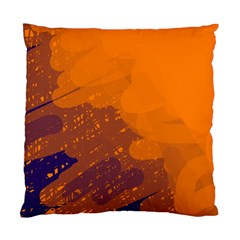Orange And Blue Artistic Pattern Standard Cushion Case (one Side) by Valentinaart