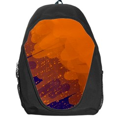 Orange And Blue Artistic Pattern Backpack Bag by Valentinaart