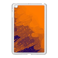 Orange And Blue Artistic Pattern Apple Ipad Mini Case (white) by Valentinaart