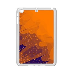 Orange And Blue Artistic Pattern Ipad Mini 2 Enamel Coated Cases by Valentinaart