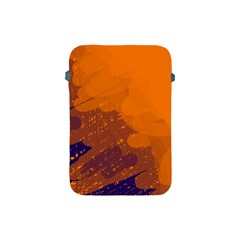 Orange And Blue Artistic Pattern Apple Ipad Mini Protective Soft Cases by Valentinaart
