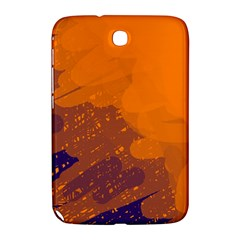 Orange And Blue Artistic Pattern Samsung Galaxy Note 8 0 N5100 Hardshell Case  by Valentinaart