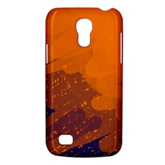 Orange And Blue Artistic Pattern Galaxy S4 Mini by Valentinaart