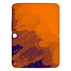 Orange And Blue Artistic Pattern Samsung Galaxy Tab 3 (10 1 ) P5200 Hardshell Case  by Valentinaart