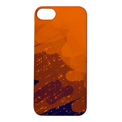 Orange And Blue Artistic Pattern Apple Iphone 5s/ Se Hardshell Case by Valentinaart