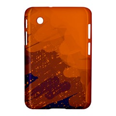 Orange And Blue Artistic Pattern Samsung Galaxy Tab 2 (7 ) P3100 Hardshell Case