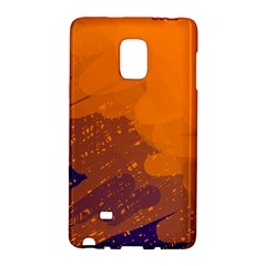 Orange And Blue Artistic Pattern Galaxy Note Edge by Valentinaart