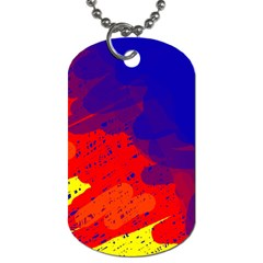 Colorful Pattern Dog Tag (one Side) by Valentinaart