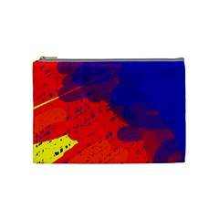 Colorful Pattern Cosmetic Bag (medium)  by Valentinaart
