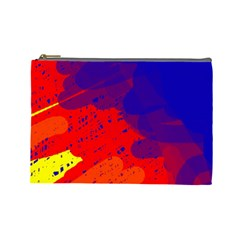 Colorful Pattern Cosmetic Bag (large)  by Valentinaart