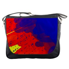 Colorful Pattern Messenger Bags by Valentinaart
