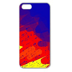 Colorful Pattern Apple Seamless Iphone 5 Case (clear) by Valentinaart