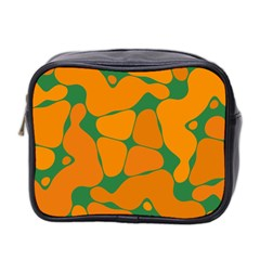 Orange Shapes                                                                                        Mini Toiletries Bag (two Sides) by LalyLauraFLM