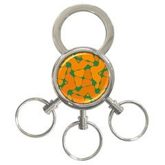Orange Shapes                                                                                        			3 Ring Key Chain by LalyLauraFLM