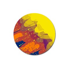 Colorful Abstract Pattern Magnet 3  (round) by Valentinaart
