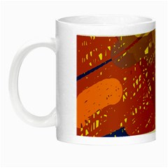 Colorful Abstract Pattern Night Luminous Mugs by Valentinaart