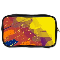 Colorful Abstract Pattern Toiletries Bags by Valentinaart