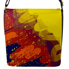 Colorful Abstract Pattern Flap Messenger Bag (s) by Valentinaart