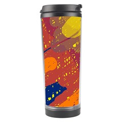 Colorful Abstract Pattern Travel Tumbler by Valentinaart