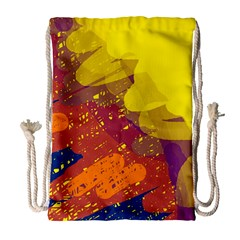 Colorful Abstract Pattern Drawstring Bag (large) by Valentinaart