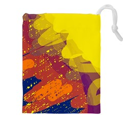 Colorful Abstract Pattern Drawstring Pouches (xxl) by Valentinaart