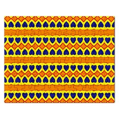 Hearts And Rhombus Pattern                                                                                          			jigsaw Puzzle (rectangular) by LalyLauraFLM