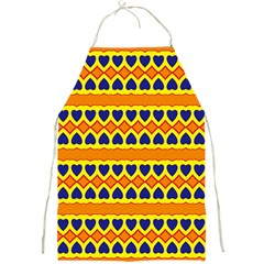 Hearts And Rhombus Pattern                                                                                          			full Print Apron by LalyLauraFLM