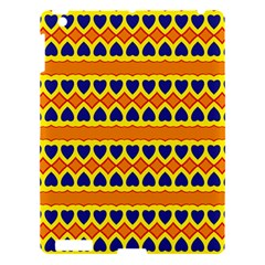 Hearts And Rhombus Pattern                                                                                         			apple Ipad 3/4 Hardshell Case by LalyLauraFLM