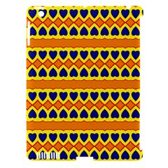 Hearts And Rhombus Pattern                                                                                         			apple Ipad 3/4 Hardshell Case (compatible With Smart Cover) by LalyLauraFLM