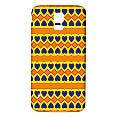 Hearts And Rhombus Pattern                                                                                         			samsung Galaxy S5 Back Case (white) by LalyLauraFLM