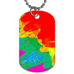 Colorful Abstract Design Dog Tag (one Side) by Valentinaart