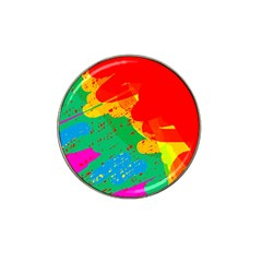 Colorful Abstract Design Hat Clip Ball Marker by Valentinaart